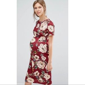ASOS Maternity Red Floral Dress